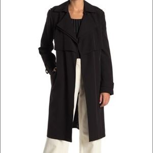 "Michael Kors""XS""LongDrapeBlack Trench Coat.ChicNWT"